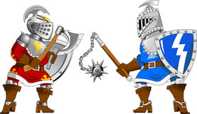 Two knights Stock Image