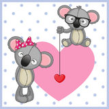 Two Koalas Royalty Free Stock Photography