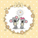 Two Koalas. Greeting card with two Koalas in a frame Royalty Free Stock Photo