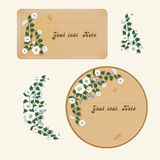 Two labels with flowers Royalty Free Stock Photography