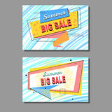 Two labels Stock Images