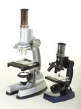 Two Laboratory Microscopes Royalty Free Stock Photos