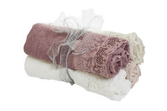 Two lace towels Stock Photos