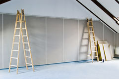 Two ladders and wall Stock Photography