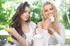 Two ladies stock image