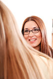 Two ladies talk Royalty Free Stock Images