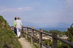 Excursion to Padenghe sul Garda stock photography