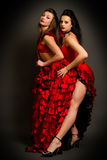 Two lady in gypsy costume Stock Photography