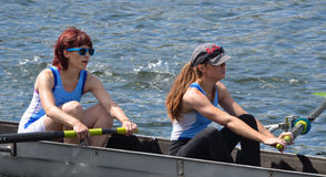 Two lady rowers Royalty Free Stock Photography