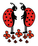 Two ladybugs Stock Image