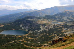 Two lakes. Landscape with two lakes in Rila mountain, Bulgaria Stock Photos