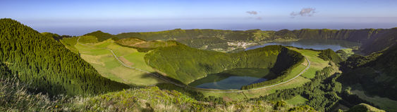 Two lakes in Azores. Two lakes in Flores Island, Azores Portugal stock photos