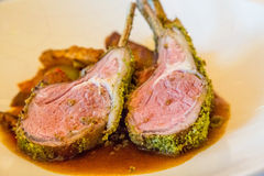 Two Lamb Chops in Sauce Stock Photo