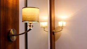 Dressing table lamp in resort royalty free stock photos