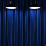Two lamps and black curtains Stock Photography