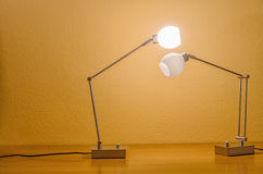 Two lamps interacting Royalty Free Stock Images