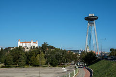 Two landmarks of Bratislava Royalty Free Stock Photo