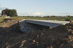 Two-Lane κατασκευή γεφυρών Στοκ Εικόνες