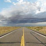 Two lane highway. Royalty Free Stock Image