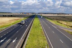 Two lane highway royalty free stock images