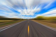 Two lane highway blur Stock Image
