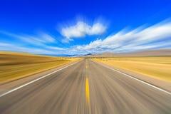 Two lane highway blur Royalty Free Stock Photos