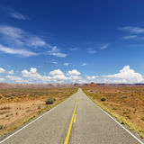 Two Lane Highway Through Desert Stock Photos