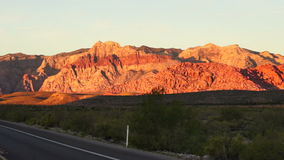 Two Lane Highway Leads to Red Rock Canyon Las Vegas USA stock video