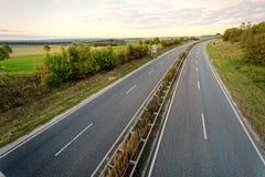 Two lane road Royalty Free Stock Image