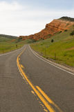 Two Lane Road Yellowstone National Park Wyoming United States Stock Photo