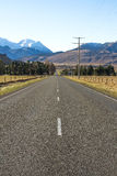 Two lanes asphalt road Royalty Free Stock Photography