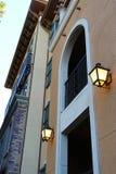 Two lantern on the wall Royalty Free Stock Photos