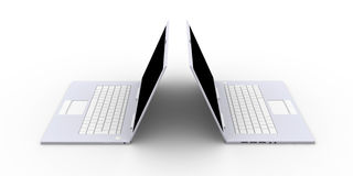 Two Laptops Royalty Free Stock Photo