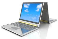 Two laptops Stock Images