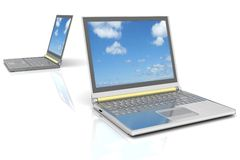 Two  laptops Stock Photography