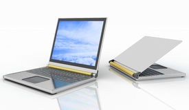 Two laptops Royalty Free Stock Images