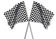 Two large Checkered Flag Royalty Free Stock Photos