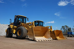 Two Large Construction Vehicle Stock Photography