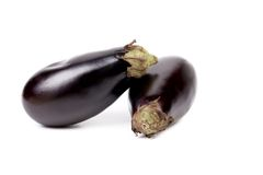 Two large eggplants Royalty Free Stock Photography