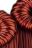 Two Large Industrial Toroidal Choke Coils Royalty Free Stock Image