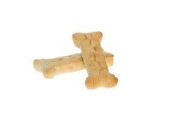 Two Large Milk Bone Dog Treats. Isolate on white Stock Image