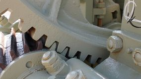 Close up of gears meshing Stock Photography