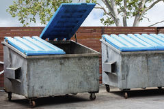 Two large rubbish bins Royalty Free Stock Photo