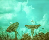 Two Large satellite dish Stock Images