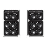 Two large speakers Royalty Free Stock Photography