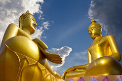 Two large statues. Royalty Free Stock Photography