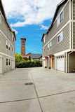 Two large townhouses and driveway Royalty Free Stock Image