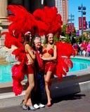 Las Vegas Showgirls Stock Photo