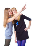 Two laugh teenage girls Royalty Free Stock Image