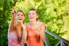 Two laugh teenage girls Royalty Free Stock Photos